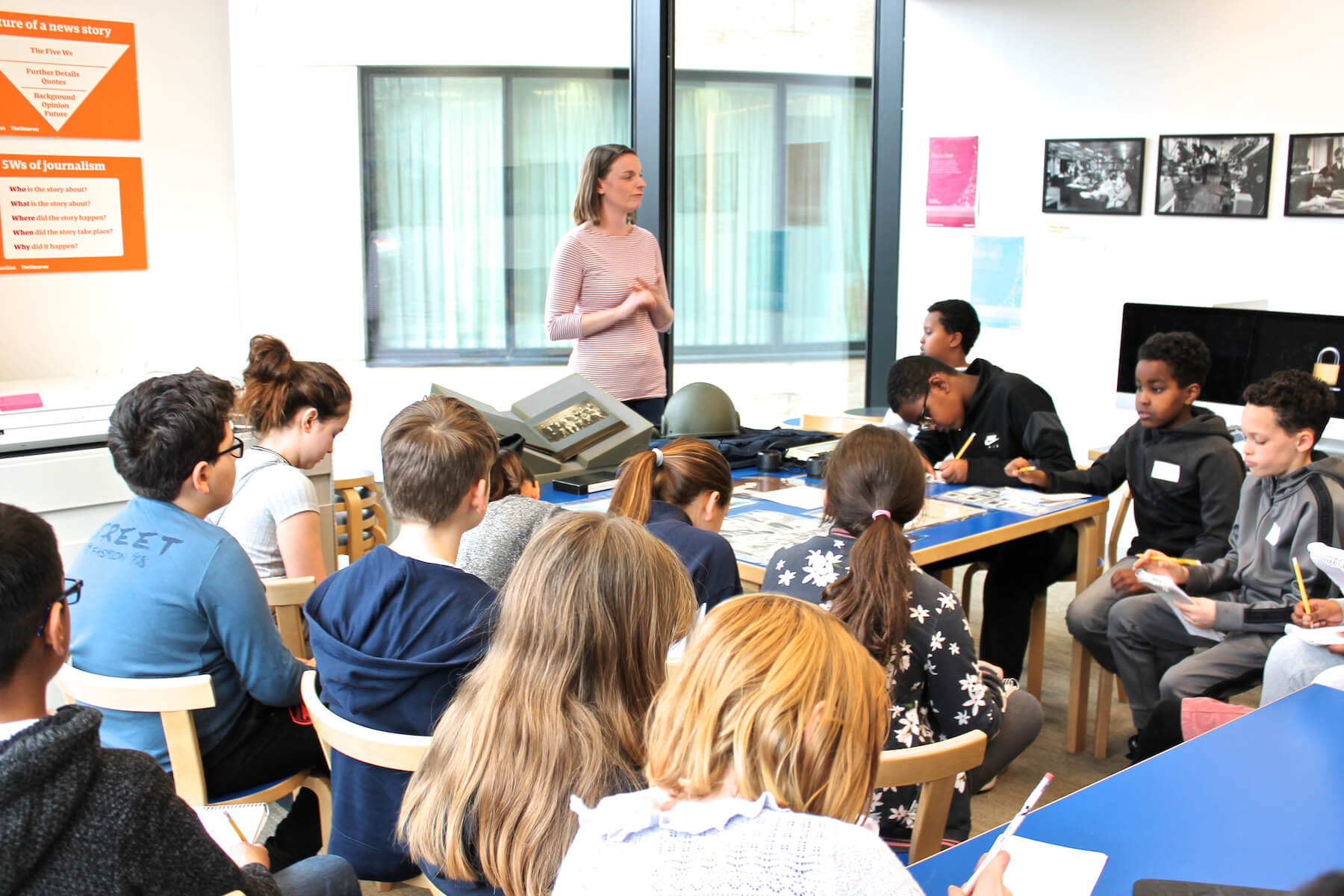 Archive workshop at Education Centre, Guardian Foundation
