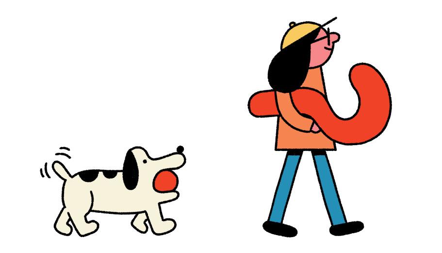 Newswise Nav and Newshound characters. Photograph: Leon Edler